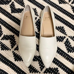 Marc Fisher Zurri Pointy Toe Ivory Loafers